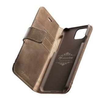 Калъф за Apple iPhone 11 Pro, Flip Wallet, кожен, Cellular Line Book Supreme, кафяв image