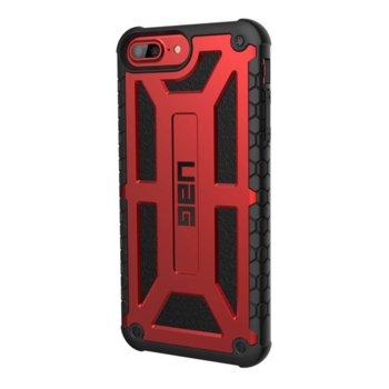 Калъф за Apple iPhone 8 Plus, хибриден, Urban Armor Monarch Platinum IPH8/7PLS-M-C, удароустойчив, червен-черен image