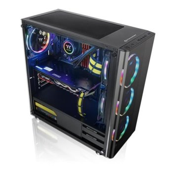Кутия Thermaltake V200, ATX, mATX, mITX, прозорец, 1x USB 3.0, 2x USB 2.0, черна, без захранване image