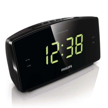 Часовник Philips AJ3400, вградено радио, 400 mW, 2 аларми, черен image