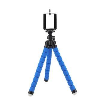 Мини трипод One Plus R5439, макс. височина 13 cm, гъвкави крака, чупеща глава на 360 градуса, различни цветове image