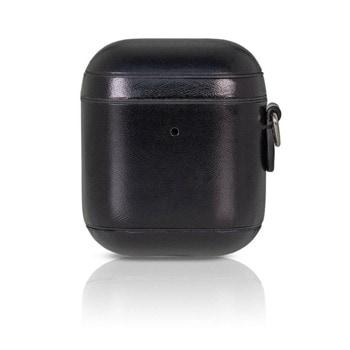 Защитен калъф Torrii Leather Case за Apple Airpods / Apple Airpods 2, естествена кожа, черен image