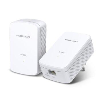 Powerline адаптер Mercusys MP500 KIT, 1000Mbps, 1x Gigabit Ethernet Port, 2 устройство image