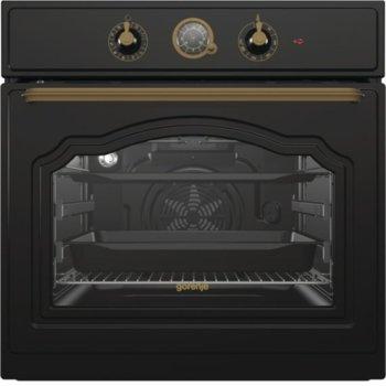 Фурна за вграждане Gorenje Classico BO7732CLB, клас А, 71л. обем, механично управление, електронен таймер, черна image