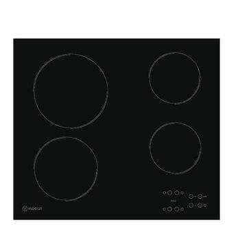 Керамичен плот за вграждане Indesit RI 161 C, 4 Нагряващи котлони, сензорно управление, черен image