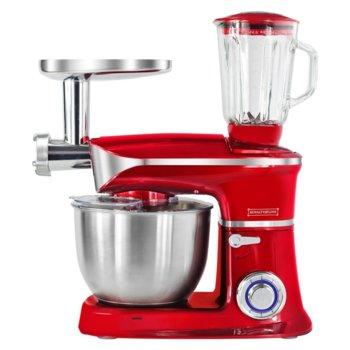 Кухненски робот Royalty Line RL-PKM1900.7BG, 1900W, 6 скорости, 6.5L, 3в1, блендер, миксер, месомелачка, червен image