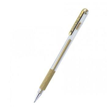 Ролер Pentel Hybrid METAL K118M, дебелина на писане 0.8mm, цвят на писане злато image