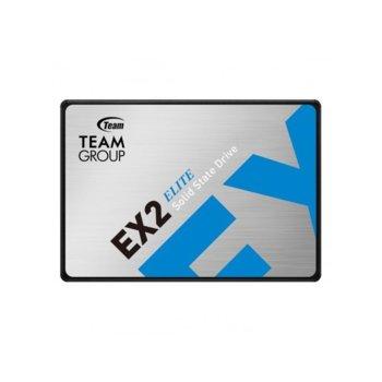 "Памет SSD 1TB, Team Group Elite EX2, SATA 6Gb/s, 2.5""(6.35 cm), скорост на четене 550 MB/s, скорост на запис 520 MB/s image"