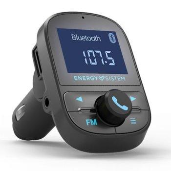 FM трансмитер Energy Sistem Energy PRO 44726, от 87.5 MHz до 108.0 MHz, Bluetooth 4.2, 1x USB, MicroSD слот, LED дисплей, микрофон, черен image
