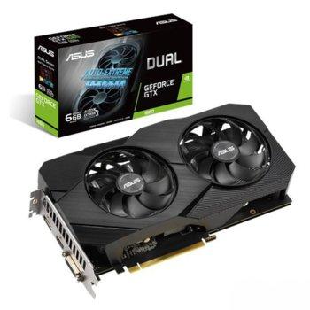 Видео карта Nvidia GeForce GTX 1660, 6GB, ASUS Dual EVO, PCI-E 3.0, GDDR5, 192bit, DisplayPort, HDMI, DVI-D image