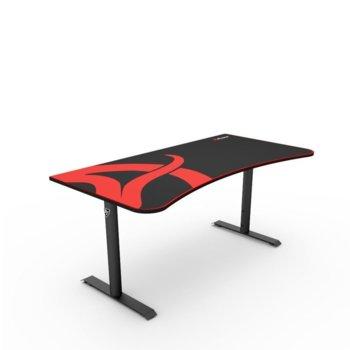 Компютърно бюро Arozzi Arena Black, микрофибърно покритие, гейминг, черно image