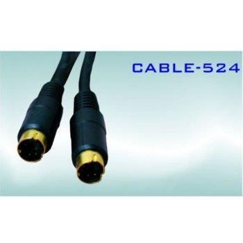 Кабел Royal CABLE-524/1.5, от SVHS(м) към SVHS(м), 1.5m, черен image