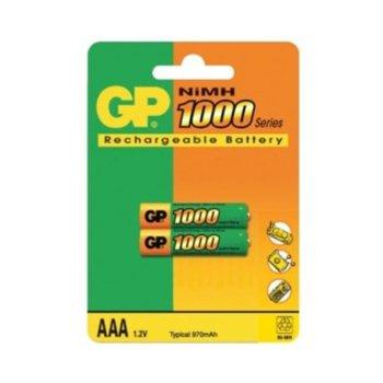 Акумулаторна Батерия GP NiMH AAA, 1.2V, 1000mAh, 2 бр. в опаковка image