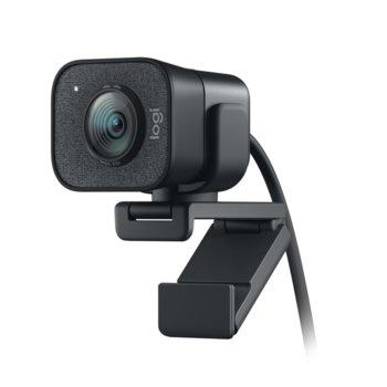 Уеб камера Logitech StreamCam, микрофон, Full HD (1080p/60FPS), Smart Auto-Focus, проектирана за стрийминг, USB 3.1 Gen1 Type C, черна image