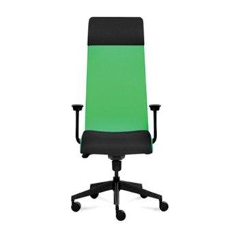 Президентски стол Tronhill Solium Executive (ON4010200071), дамаска и меш, 120 кг. максимално натоварване, 5 заключващи се работни позиции, зелен image