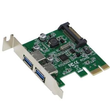 Контролер Estillo (EST-PCIex-USB3.0-LP), от PCI-E към 2x USB 3.0 image