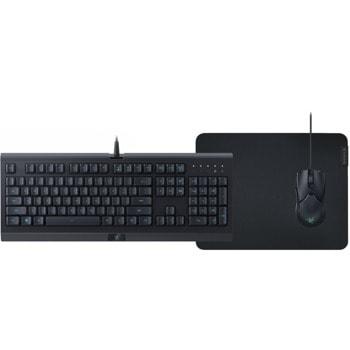 Комплект клавиатура, мишка и пад Razer Level Up Bundle V2 (RZ85-02741200-B3M1), оптична (8500 dpi), гейминг, RGB подсветка, USB, черни image