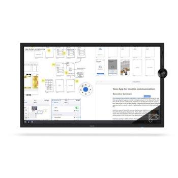 """Дисплей NEC C751Q SST, тъч дисплей, 75"""" (190.5 cm), Ultra HD, HDMI, DisplayPort, USB, RS232 image"""
