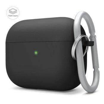 Калъф за слушалки Elago Liquid Hybrid Hang Case EAPPRH-HANG-BK, за Apple AirPods Pro, силиконов, черен image