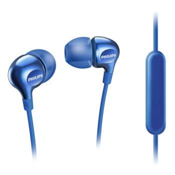 Слушалки Philips SHE3555BL, микрофон, сини image