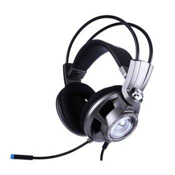 Слушалки Somic G955-GY, микрофон, гейминг, виртуален 7.1 съраунд, 40мм високоговорители, 20Hz - 20KHz честотен диапазон, USB, сиви image