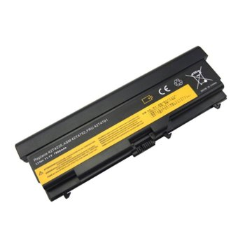 Батерия (заместител) за лаптоп Lenovo Thinkpad E40, съвместима с E50/L410/L420/L520/SL410/SL510 T410 T510 T520 W510 W520 42T4731, 10.8V, 6600mAh image