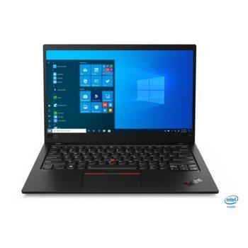 "Лаптоп Lenovo ThinkPad X1 Carbon 8 (20U9004RBM), четириядрен Comet Lake Intel Core i5-10210U 1.6/4.2 GHz, 14.0"" (35.56 cm) Full HD IPS Anti-Glare Display, (HDMI), 16GB, 512GB SSD, 2x Thunderbolt 3, Windows 10 Pro image"