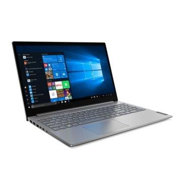 "Лаптоп Lenovo ThinkBook 15 G2 ITL (20VE00FPBM_2)(сив), четириядрен Tiger Lake Intel Core i7-1165G7 4.70 GHz, 15.6"" (39.62 cm) Full HD IPS Anti-Glare Display, (HDMI), 16GB DDR4, 512GB SSD, 2x 3.2 USB-C, No OS  image"