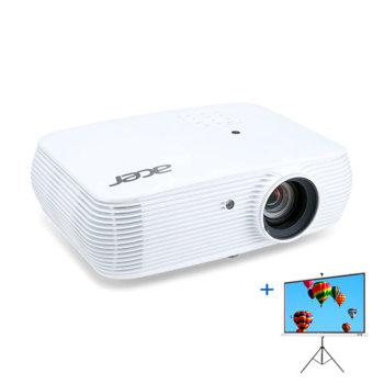 """Проектор Acer P5530i с подарък екран Acer T82-W01MW 82.5""""(209.55 cm), 3D, DLP, FullHD (1920x1080), 20000:1, 4000 lm, HDMI/MHL, VGAx2, RCA, HDMI image"""