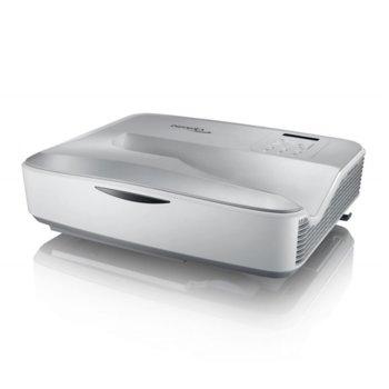 Проектор Optoma HZ40UST, DLP, 3D, Full HD (1920x1080), 2,500,000:1, 4000 lm, HDMI, VGA, USB, RJ-45, бял image