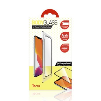 Протектор от закалено стъкло /Tempered Glass/ Torrii BodyGlass 3D IP1965-BDG-02 за Apple iPhone 11 Pro Max, черна рамка image