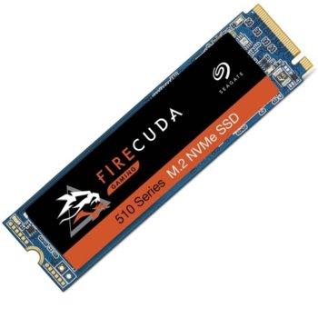 Памет SSD 500GB, Seagate FireCuda 510 Series (ZP500GM3A001), PCIe NVMe, M.2 (2280), скорост на четене 3450MB/s, скорост на запис 2500MB/s image