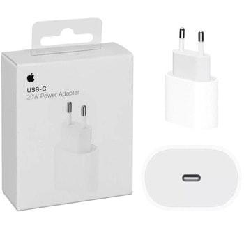 Зарядно устройство Apple 20W USB-C Power Adapter, от контакт към USB Type C (ж), бяло image