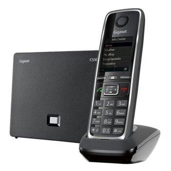 "Безжичен VoIP телефон Gigaset C530 IP, 1.8""(4.57 cm) TFT цветен дисплей, черен image"