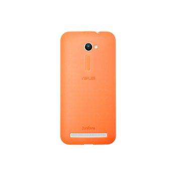 Калъф за Asus ZenFone 2, страничен протектор с гръб, поликарбонатов, Asus Bumper ZE500CL, оранжев image