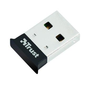 Адаптер Trust 18187, USB 2.0, Bluetooth 4.0, до 24 Mbps, обхват до 15m, черен  image