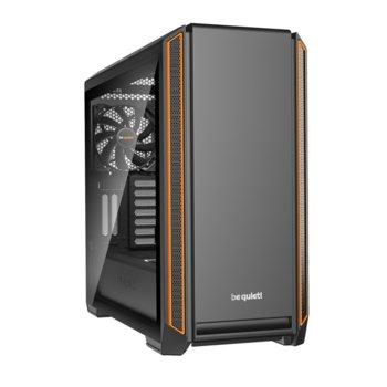 Кутия Be Be Quiet Silent Base 601 Window Orange, E-ATX, ATX, M-ATX, Mini-ITX, 2x USB 3.0, прозорец от закалено стъкло, черна, без захранване image