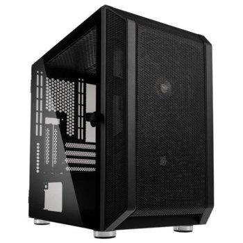 Кутия Kolink Citadel Mesh, Micro ATX/Mini ITX, 1x USB 3.0, 2x USB 2.0, черна, закалено стъкло, без захранване image