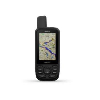 """Ръчна навигация Garmin GPSMAP 66st, 3.0"""" (7.62 cm) TFT сензорен цветен дисплей, Bluetooth, Wi-Fi, 16GB вградена памет, microSD слот, IPX7 защита, до 16 часа време за работа, вградена основна карта image"""