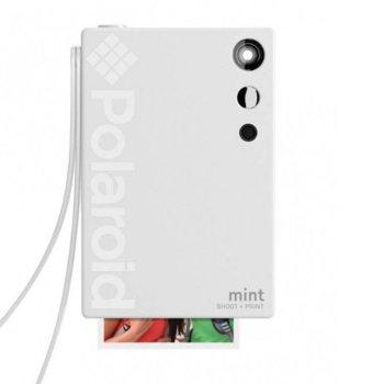 Фотоапарат Polaroid Mint, 16.0 Mpix, MicroSD слот, Zero Ink технология, Bluetooth, бял image