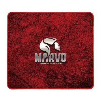 Подложка за мишка Marvo Pro Gaming Mousepad G39 - Size-L, гейминг, червена, 450 x 400 x 3 mm image