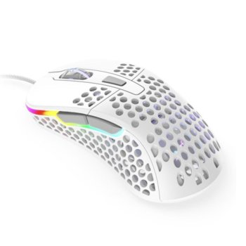 Мишка Xtrfy M4 RGB, оптична (16000dpi), гейминг, RGB, USB, бяла image