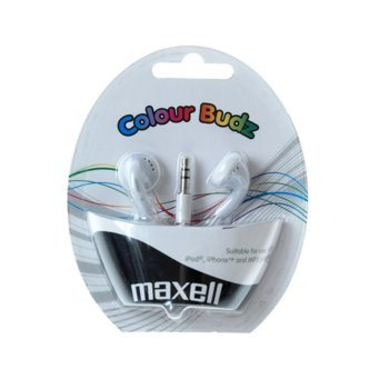 Слушалки MAXELL color BUDS, бели, тапи  image