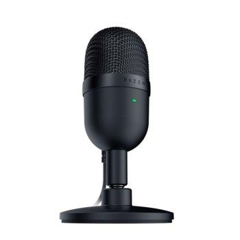 Микрофон Razer Seiren Mini (RZ19-03450100-R3M1), USB, със стойка, 20Нz~20kНz, черен image