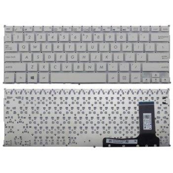 Клавиатура за лаптоп ASUS U56E Черна Без Рамка (Голям Ентър) с Кирилица БДС image