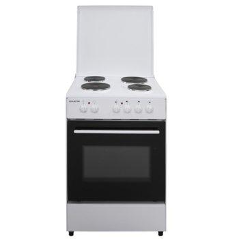 Готварска печка Electra 60ST/ED, енергиен клас A, 4 нагревателни зони, 65л. обем, механично управление, бяла image