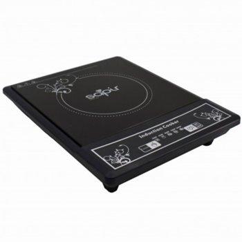 Индукционен котлон Sapir SP 1445 VG, Стъклокерамична плоча, 2000W, LED екран, 5 степени, автоматично изключване, черен image