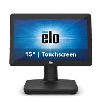 "All in One компютър Elo EPS15E5-2UWA-1-MT-8G-1S-NO-00-BK, шестядрен Intel Core i5-8500T 2.1/3.5 GHz, 15.6"" (39.624 cm) HD LED Capacitive Multi Touch Display, 8GB DDR4, 128GB SSD, USB-C, Free DOS image"