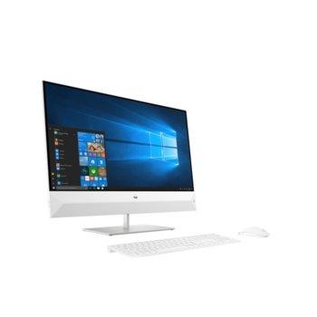 "All in One компютър HP Pavilion 27-xa0002nu (7JY22EA), 27"" (68.58 cm) Full HD Touchscreen Display, шестядрен Coffee Lake Intel Core i5-9400T 1.8/3.4 GHz, 8GB DDR4, 256GB SSD & 1TB HDD, 2x USB 3.1 Type C, клавиатура и мишка, Windows 10 image"