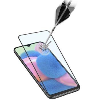 Протектор от закалено стъкло /Tempered Glass/ за Samsung Galaxy A30s, черна рамка, черен image